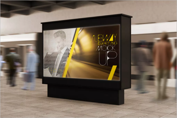 Subway Billboard Mockup Design