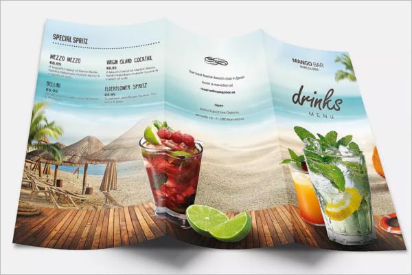 Summer Drinks Menu Template