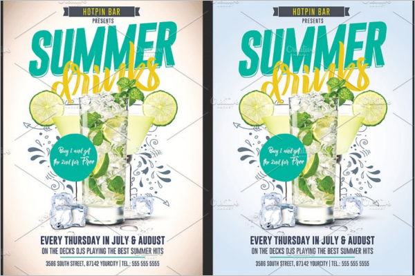 Summer Flyer Design Template