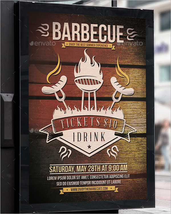 Summer Party BBQ Flyer Template