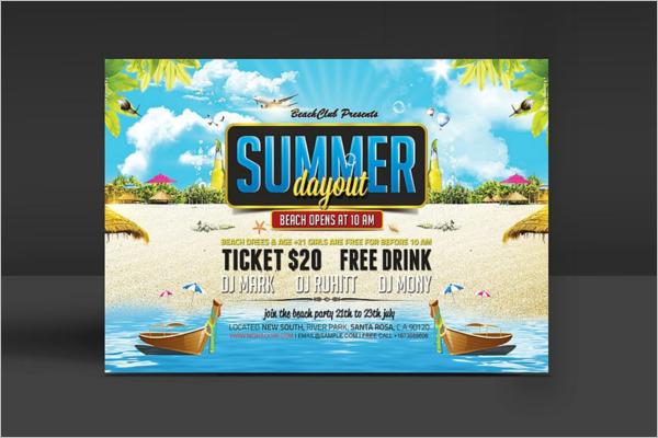 Summer Season Party Flyer Template