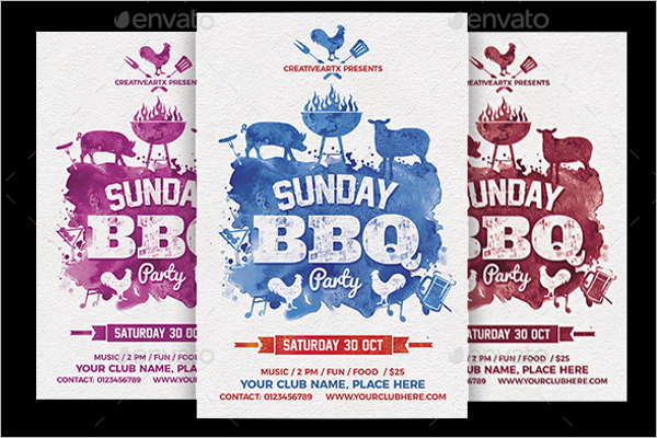 Sunday BBQ Flyer Template