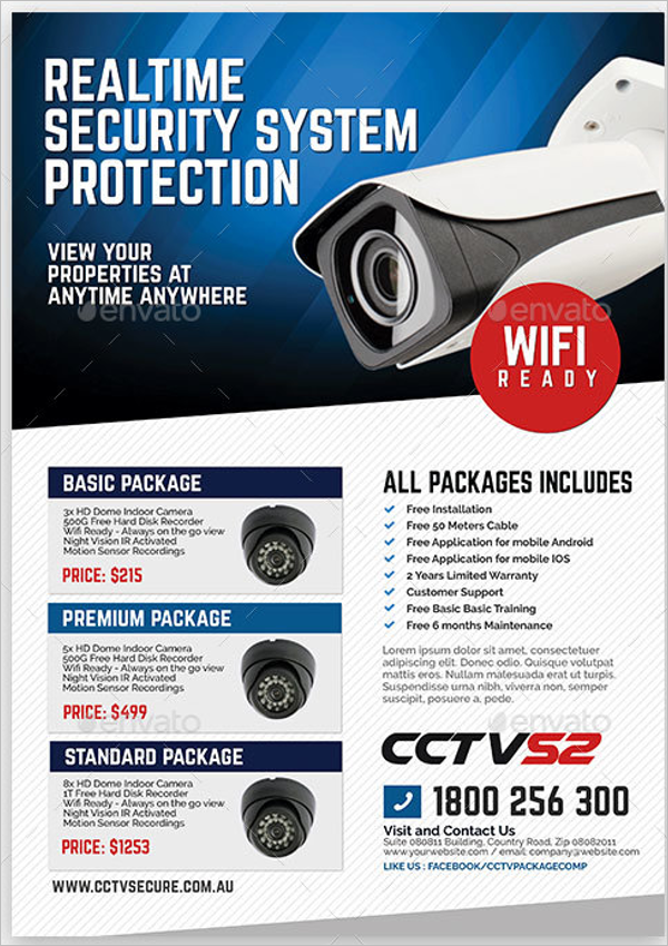 Surveillance Camera Flyer Design Template