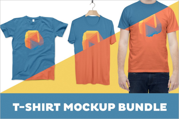 T-Shirt Mockup Bundle Template