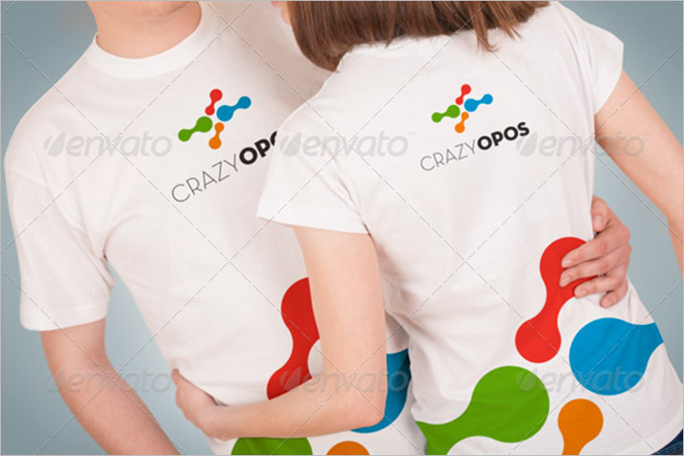 T-Shirt Mockup Vector Design