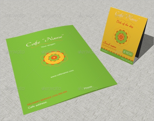 Table Card Menu Design For Cafe