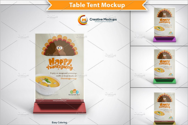 Table Tent Card Mockup PSD Template