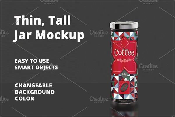 Tall Jar Mockup