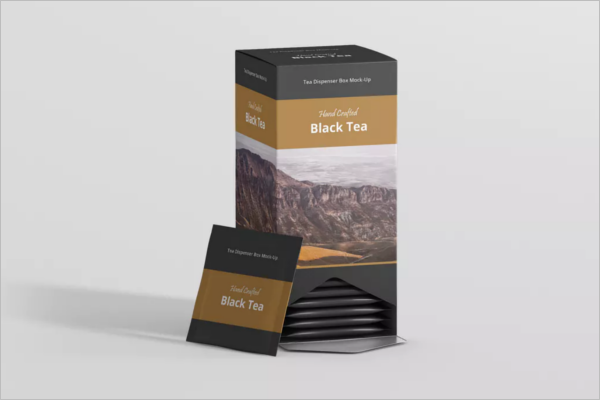 Tea Packaging Box Mockup
