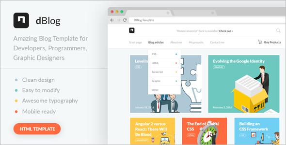 Teacher Blog Design Template