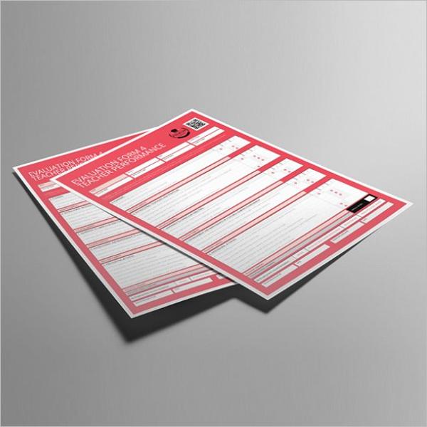 Teacher Evaluation Form PDF
