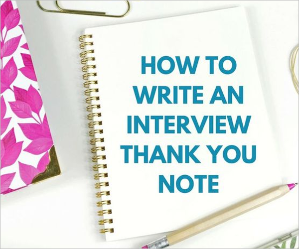 Teacher Interview Thank You Card Sample