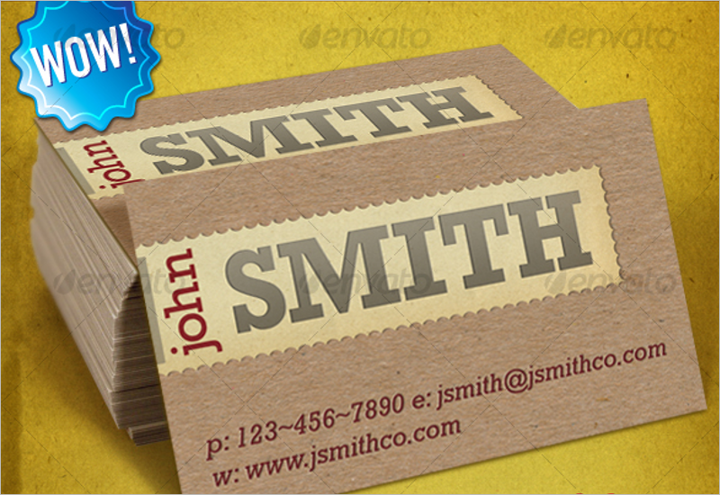Textured Letterpress Business Card Template