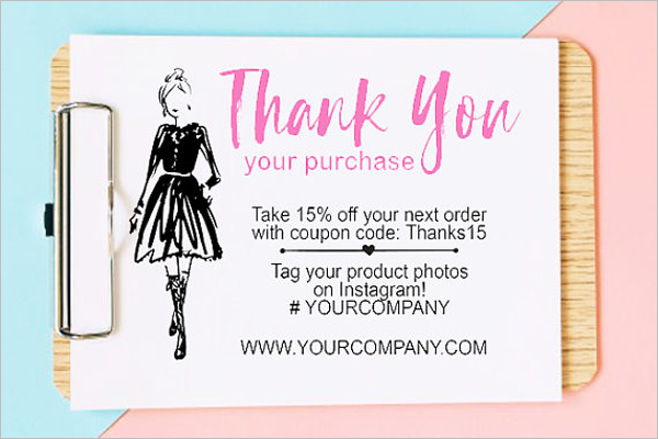 Thank You Business Card Template Free Photo