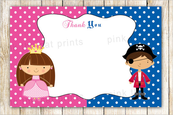 Thank You Card Note For Kids