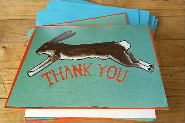 Thank You Card Vector Template