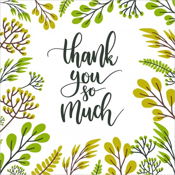 Thank You card Floral Design