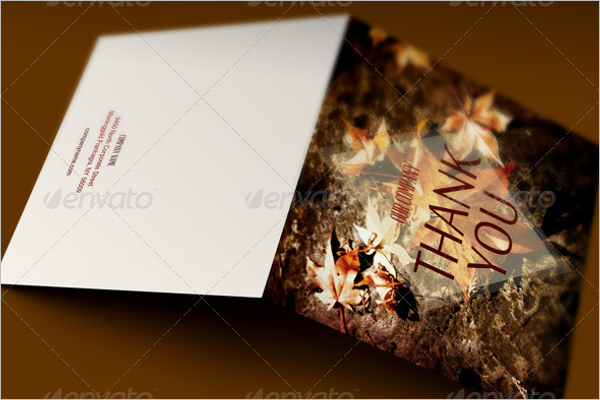 Thanksgiving Thank You Card Template