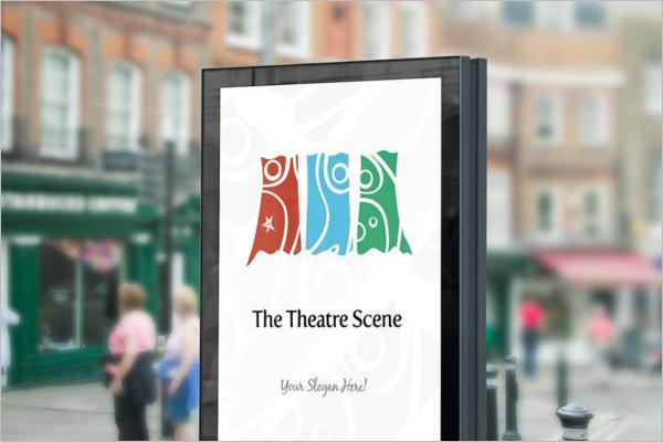 Theatre Screen Mockup Template