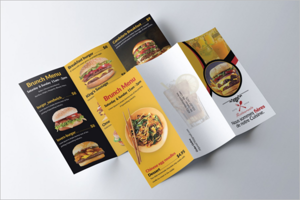 Three Fold Menu Template - 3 fold menu template