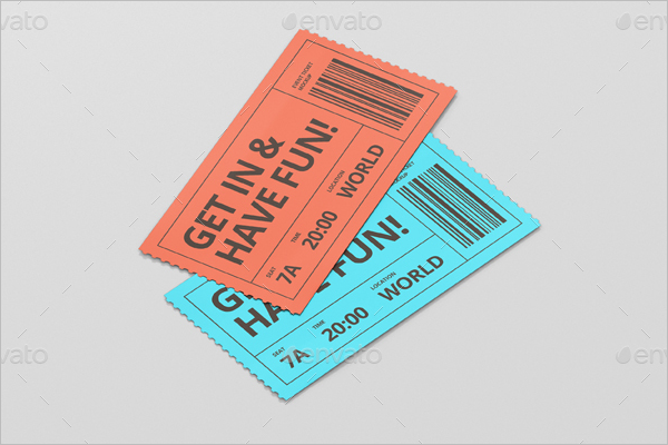 Ticket Mockup Print Design