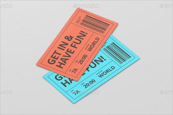 Ticket Mockup Print Design