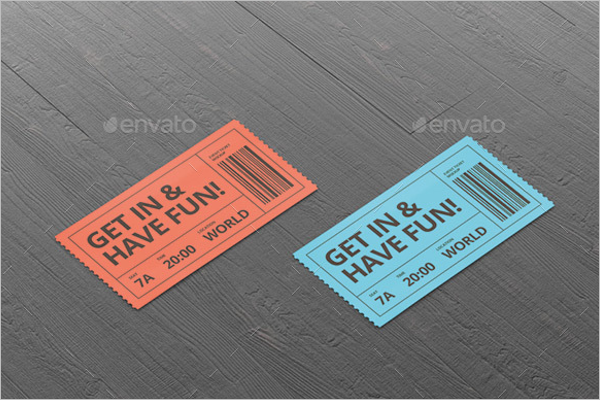 Ticket Mockup Set Design