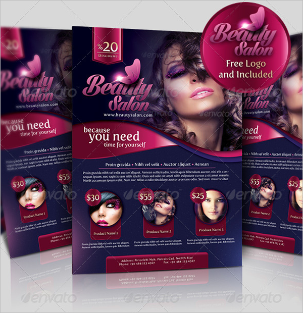 Top Selling Beauty Salon Flyer Template