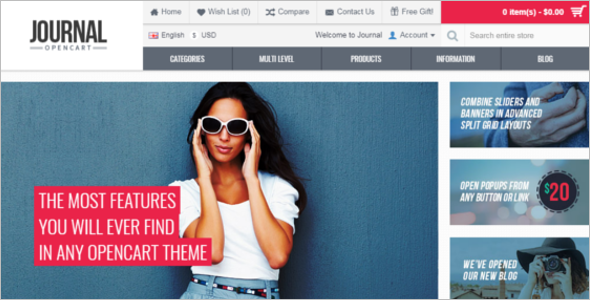 Top Selling Opencart Theme