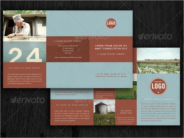 Top Selling Retro Brochure Template