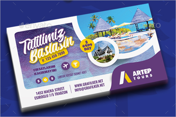 Tours &Travel Business Card Template