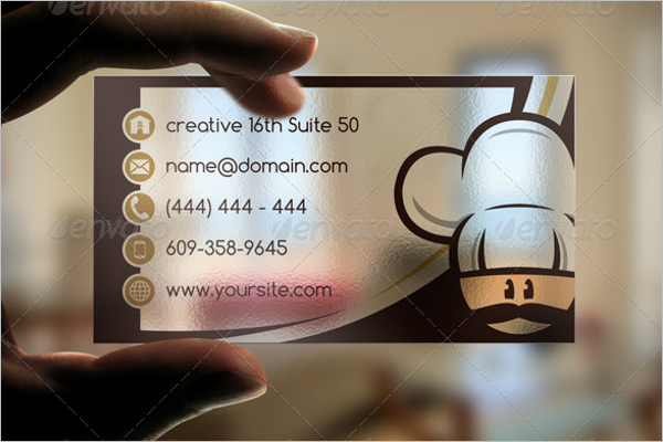 Transparent Bakery Business Card Design