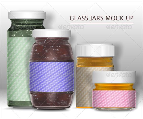 Transparent Coffee Jar Mockup