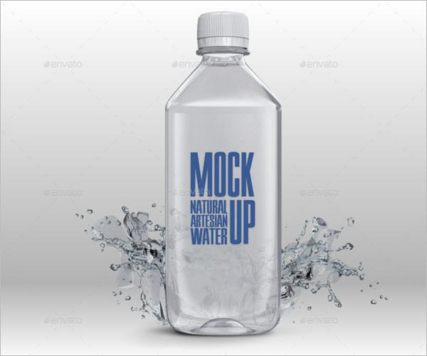 TransparentWater Bottle Mockup