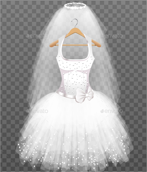 Transparent Dress Design Template