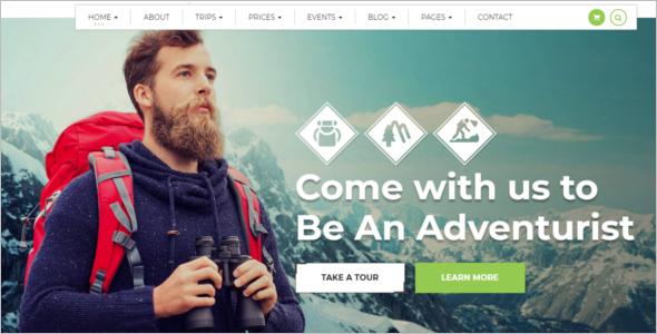 Travel Blog Design Template