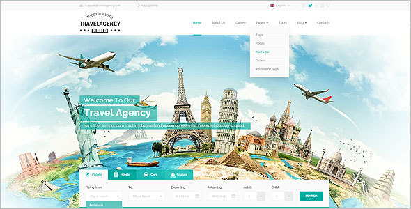 Travel Bootstrap Design Template
