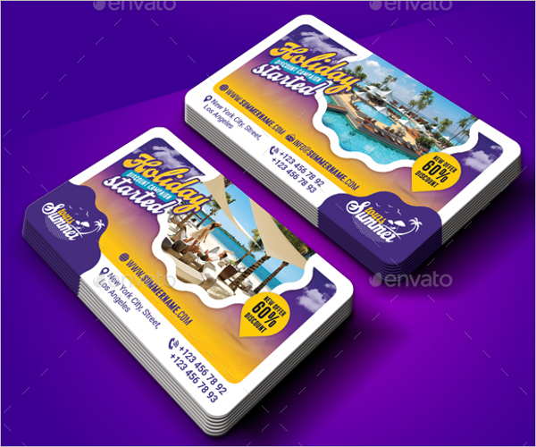 Travel Business Card Abstract Design