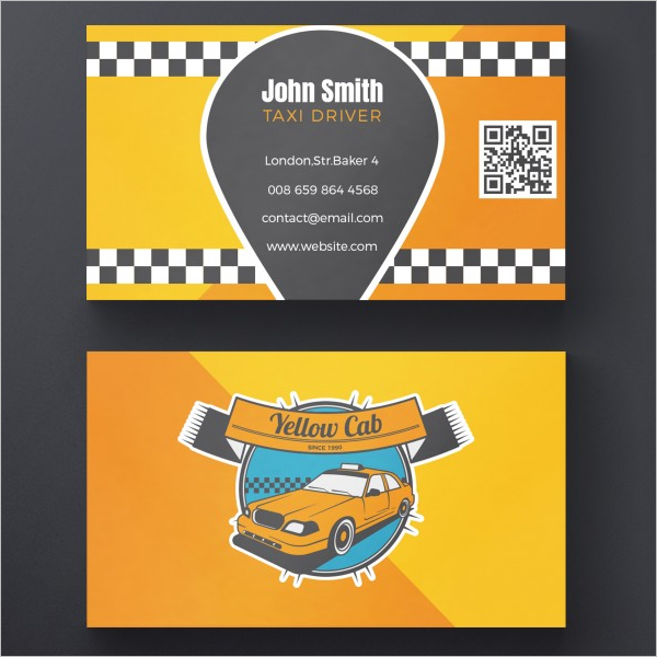 Travel Taxi Business Card Free PSD