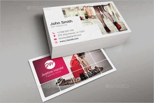 Trendy Fashion Business Card Design