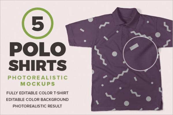 Trendy Polo t-Shirt Mockup