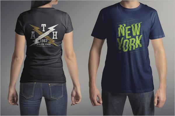 Trendy T-Shirt Mockup Template