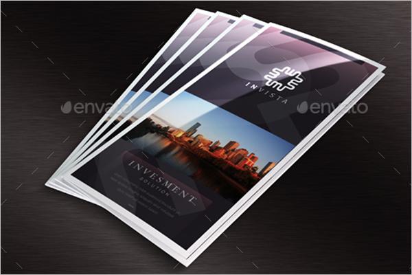 Tri-Fold A4 Leaflet Brochure Mockup Design