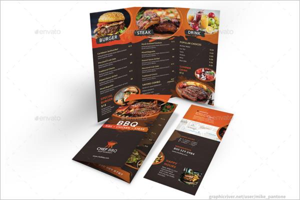 Tri-Fold BBQ Menu Template