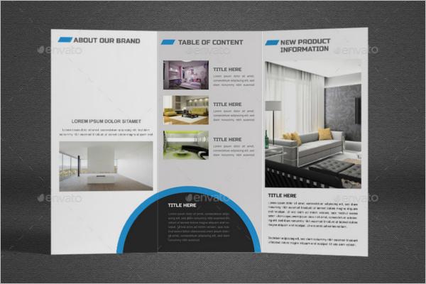 Tri Fold Interior Template Design