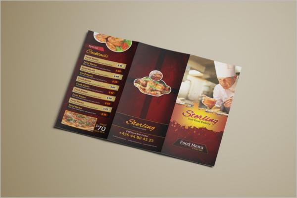 Tri-Fold Menu Design Free Download
