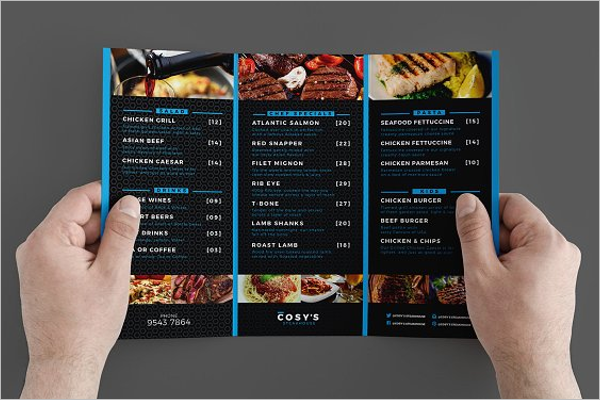 46 tri fold menu templates free word psd designs