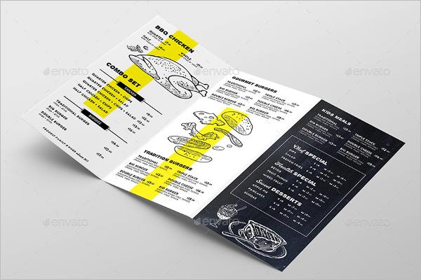 46 tri fold menu templates free word psd designs
