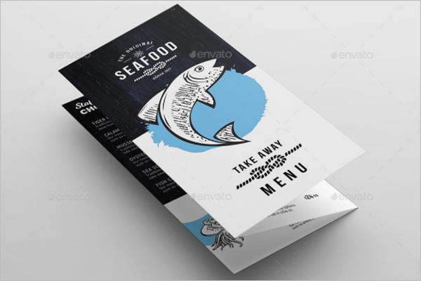 Tri-Fold Seafood Menu Template