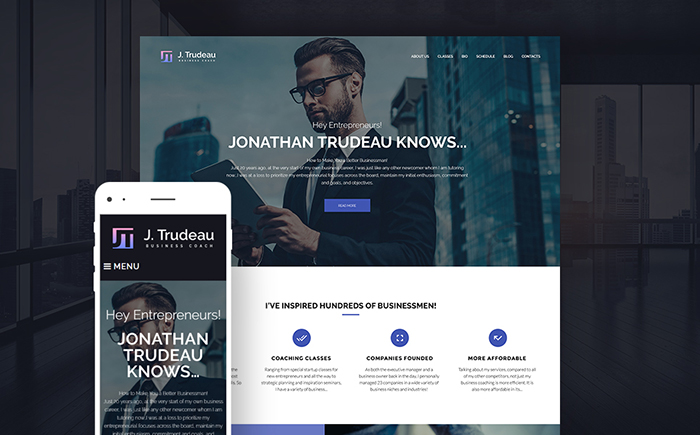 Business Courses WP Theme